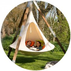 Double Cacoon, 2 people #white (also #brown...) #swing_chair, 1.8 m diameter, @CACOONWORLD