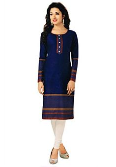 Salwar Studio Women's Cotton Printed Kurti Fabric (OM-0005316_Dark Blue_Unstitched) Check more at http://www.indian-shopping.in/product/salwar-studio-womens-cotton-printed-kurti-fabric-om-0005316_dark-blue_unstitched/