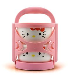 3pcs/lot Hello Kitty Microwave Thermos Ceramic Bowl And Lunch Box Bag For Kids Free Shipping