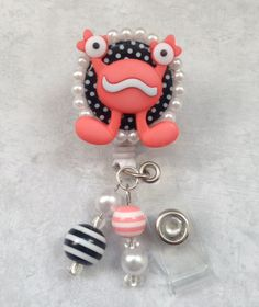 Monster & Pearls Retractable professional nursing by ForTheLovetlc, $10.00