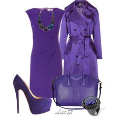 """Stepping out in """"Vivacious Violet"""" by christa72 on Polyvore"""