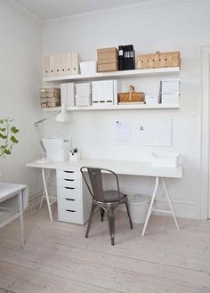 Den här veckan ska jag inreda ett hemmakontor/gästrum! Budgeten är ganska begränsad så jag får försöka hitta basen på Ikea och sen kan man komplettera med lite dyrare detaljer. BordsskivanLinnmon går att kombinera med ett antal olika bordsben och blir ett perfekt skrivbord. Jag gillar framförallt bockbenen Lerberg.
