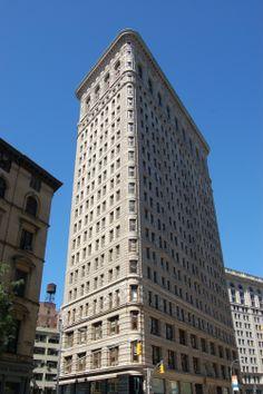 La parte trasera del edificio Flatiron, Nueva York