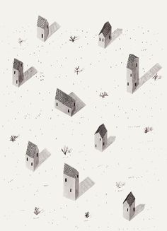 Hey, I found this really awesome Etsy listing at https://www.etsy.com/listing/223355863/tiny-houses-by-ana-frois-illustration