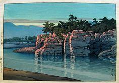 HASUI, KAWASE (1883-1957)  Sunset on Nagatoro in Chichibu Province