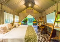Stay close to nature with the best glamping in Thailand. Tent Camping, Glamping, River Camp, Closer To Nature, Resorts, Valance Curtains, Thailand, Luxury, Beautiful