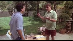 Tom Hanks and Rick Ducommun in The Burbs 1989