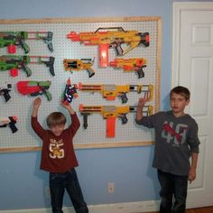 Coolest way to store Nerf guns