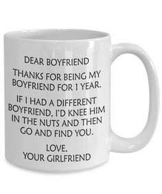 2 Year Anniversary Gift For Boyfriend - 2 Years Dating Mug - 2 Years Together - Boyfriend Dating Gift - Funny Dating Gift - Boyfriend Mug - jasmin