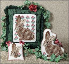 Just Nan - S006 Rosie Rabbit • Counted Thread Cross Stitch Designs from Just Nan