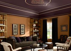 Benjamin Moore Chambourd Living Room Decor Rooms Salon Ceiling Color Dark