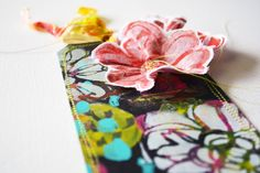 Rae Missigman Musling Flowers with Stencils and Stitching