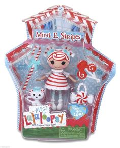 Lalaloopsy Mini Holiday Mint E. Stripes Doll BNIB Doll #2 of Series 13 (529769) #DollswithClothingAccessories
