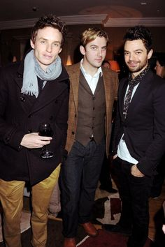 Eddie Redmayne, Dan Stevens, Dominic Cooper: i don't know the 3rd but my oh my the first 2. les mis and downton abbey (: