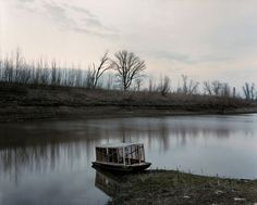 Alec Soth, Sleeping by Mississipi, 2004 (the imperturbable river after blood?)