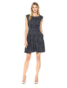 Eliza J Women's Tweed Fit and Flare Dress