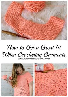 Crocheting Garments – Tips to Get a Great Fit! – Two Brothers Blankets Crocheting Garments – Tips to Get a Great Fit! – Two Brothers Blankets,Häkeln Crocheting Garments – Tips to Get a Great. Pull Crochet, Mode Crochet, Crochet Basics, Crochet Baby, Crochet Tops, Crochet Birds, Crochet Animals, Crochet Cardigan, Crochet Shawl