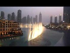 """Dubai Fountains Synchronized With Whitney Houston's """"I Will Always Love You""""! (RIP Whitney)"""