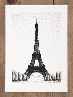 Eiffel Tower by InkingArt.deviantart.com on @DeviantArt