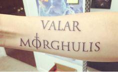 PIPOCA COM BACON - Tattoos #05: Especial Game OfThrones   #gameofthrones #housestark #kingshand #whitewalker #targaryen #tattoo #stark #tatuagem #valardohaeris #valarmorghulis  #pipocacombacon