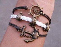 Nautical Bracelet  Ship Wheel Little by braceletjewelry1023, $4.95