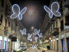 Magic Display of Light in Milano: Butterflies by Chiara Lampugnani