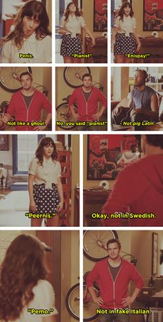 New Girl - Jess & Nick one of my favorite episodes New Girl Season 1, Girls Season, Funny Cute, Hilarious, Stupid Funny, Funny Jokes, Funny Stuff, Its Jess, New Girl Nick And Jess