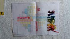 Disegno in scala e campioni di colore