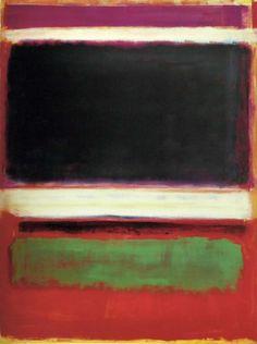 Mark Rothko - 1949 - No 3 (No. 13) (Magenta, Black, Green on Orange)