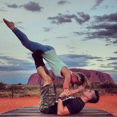 Jesse and Jeana Outback Yoga. - Check out the blog on YouTube.com/BfvsGf