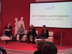 Farina de Waard, Karl Olsberg und @anniestone1981 diskutieren über Hybridautoren bei autoren@leipzig #lbm16 #buchmesse #leipzig #selfpublishing