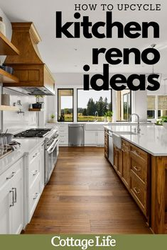 Doing a kitchen remodel? Follow these 4 tips for easy upcycle ideas. #kitchenideas #kitchenremodel #kitchenreno #homeimprovement #kitchendesign #kitchen #design #CottageLife Kitchen Reno, Kitchen Remodel, Kitchen Ideas, Kitchen Design, Unique Home Decor, Diy Home Decor, Cottage Design, Clothes Crafts, Diy Wedding Decorations