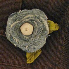 Scrappin' Becky B.: Denim Flower Tutorial
