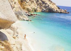 Seychelles Beach in Ikaria, Greece Best Beaches In Europe, Beaches In The World, Beautiful Islands, Beautiful Beaches, Pembrokeshire Coast Path, Seychelles Beach, Best Greek Islands, Places In Greece, Greece Travel