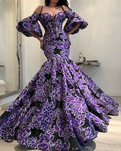 african fashion Get the latest aso ebi and ankara fashion styles from - Gowns, skirts, blouse styles, trouser and ankara tops, long and short styles Elegant Dresses, Pretty Dresses, Beautiful Dresses, African Prom Dresses, African Fashion Dresses, Ankara Fashion, Dress Fashion, Women's Fashion, Lace Dress Styles