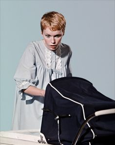 Portrait of Mia Farrow for Rosemary's Baby directed by Roman Polanski, 1968