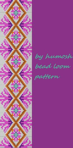 bead loom pattern by Humosh on Etsy Beading Patterns Free, Seed Bead Patterns, Cross Stitch Patterns, Cross Stitches, Weaving Loom For Sale, Bead Weaving, Tapestry Crochet, Tapestry Weaving, Bead Loom Bracelets