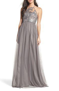 a5b581d34e5b4 Grey Bridesmaid Dress - Sheridan Sequin Halter Dress by Amsale - #ad Gray  Dress,