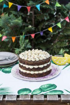 Citromos máktorta - nagyon mákos! | Street Kitchen Torte Cake, Traditional Cakes, Cakes And More, Cake Cookies, Food And Drink, Baking, Birthday Cakes, Street, Kitchen