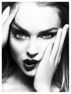 Lindsay Lohan by Mert and Marcus in 2009 (interesting beauty shot..I don't why but her hands smudging her face in those directions makes me think of models and all the manipulation media does to beauty and all that)