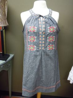 Uncle Frank Chambray Dress. Perfect for those outdoor picnics! $138.