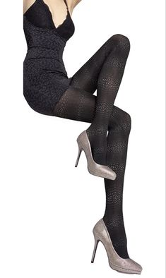Fiore Sagari 60 Denier 3D-Patterned Microfiber Tights - See more tights at www.fashion-tights.net #tights #pantyhose #hosiery #nylons #fashion #legs #legwear #advertising #influencer #collants