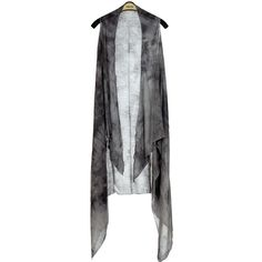 SUE & KRIS Gray Open Vest (23 CAD) ❤ liked on Polyvore featuring outerwear, vests, gray vest, grey vest, lightweight vest, draped vests and grey waistcoat