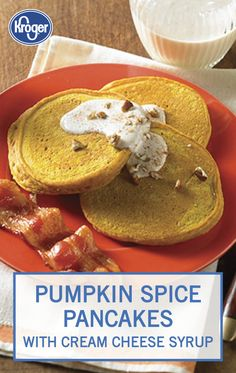 These Pumpkin Spice Pancakes from Inspired Gathering take delicious to a whole new level. Made with pumpkin puree, pumpkin pie spice, and vanilla, you'll get a taste of fall in every bite. Top with a rich drizzle of cream cheese syrup to complete this sweet breakfast recipe.