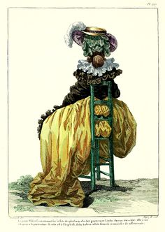 1786 1786 Robe a l'Anglaise - French Fashion Plate (back view)
