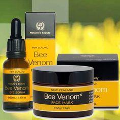 Organic Bee Venom Eye Serum  Organic Bee Venom Face Cream Mask - buy together and SAVE