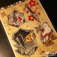 Traditional Tattoo Reference, Traditional Japanese Tattoo Flash, Small Japanese Tattoo, Japanese Demon Tattoo, Traditional Tattoo Design, Japanese Drawings, Japanese Tattoo Designs, Japanese Sleeve Tattoos, Japanese Art
