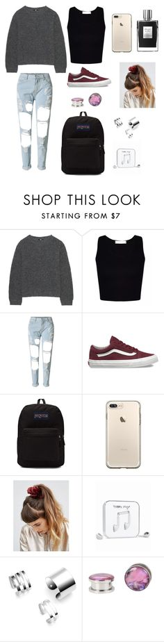 """""""🎀"""" by zofapieretti on Polyvore featuring Uniqlo, WithChic, Vans, JanSport, ASOS y Happy Plugs"""