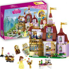 Princess Belle Enchanted Castle - Beauty and the Beast 379 Pcs - LEGO Compatible #Unbranded