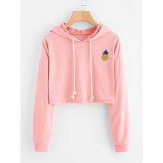 b3ec9ac83ae 2018 New Women Hoodie Appliques Pinapple Sweatshirt Fashion Long Sleeve  Pullover Topsuotelab